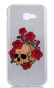 For Samsung Galaxy A3(2017) A5(2017) A7(2017) Double IMD Case Back Cover Case Rose Skeleton pattern Soft TPU