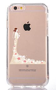 För Genomskinlig Mönster fodral Skal fodral Sexig kvinna Mjukt TPU för AppleiPhone 7 Plus iPhone 7 iPhone 6s Plus iPhone 6 Plus iPhone 6s