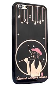 För Strass Mönster fodral Skal fodral Sexig kvinna Ord / fras Hårt Akrylfiber för AppleiPhone 7 Plus iPhone 7 iPhone 6s Plus iPhone 6