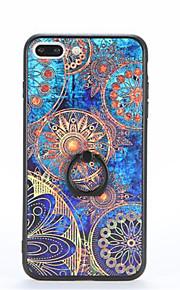 Per Supporto ad anello Fantasia/disegno Decorazioni in rilievo Custodia Custodia posteriore Custodia Fiori Mandala Resistente PC per Apple