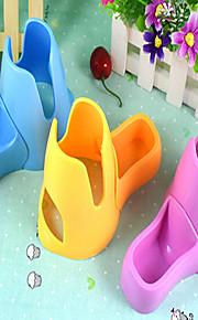 Roedores Conejos Chinchillas Cuencos y Botellas de Agua A Prueba de Agua Portátil Plegable Ajustable Múltiples Funciones Plástico Rosa