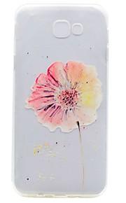 ל שקוף תבנית מגן כיסוי אחורי מגן פרח רך TPU ל Samsung A5 (2017) A7 (2017) A3 (2017) A5(2016) A3(2016)