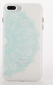 Per Fosforescente Effetto ghiaccio Decorazioni in rilievo Custodia Custodia posteriore Custodia Fiori Mandala Morbido TPU per AppleiPhone
