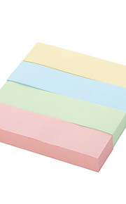 4 kinds of color of post-it notes can be used repeatedly