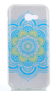 For Samsung Galaxy A3(2017) A5(2017) Double IMD Case Back Cover Case Datura Flower pattern Soft TPU A7(2017)