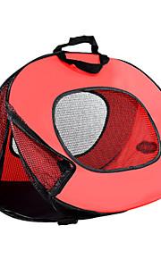 ネコ キャリーバッグ ベッド ペット用 バスケット 純色 携帯用 高通気性 折り畳み式 ホワイト レッド