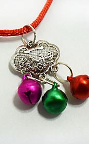 La collana del pendente della serratura di lunga vita dell'animale di modo adattano gli accessori dei natali alle decorazioni dei vestiti