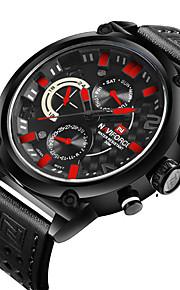 NAVIFORCE Masculino Relógio Esportivo Relógio de Moda Relógio de Pulso Relógio Casual Quartzo Calendário Dois Fusos Horários PU Banda