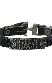 Dame Herre Kæde & Lænkearmbånd Punk Stil Læder Legering Oval form Smykker For 1 Stk.