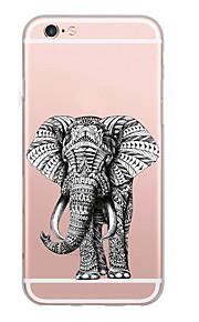 För väska täcker ultratunt mönster baksida väska elefant mjuk tpu för iphone 7 plus 7 6s plus 6 plus se 5s 5