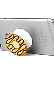 1 pc Phone Stand Holder  Doughnut Pattern Plastic Telescopic Support 360 Rotating for Mobile Phone