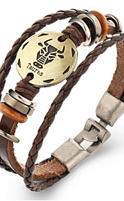 Dame Herre Læder Armbånd Vintage Læder Geometrisk form Smykker For 1 stk.