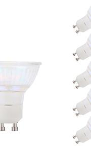 5.5W GU10 LED-spotpærer MR16 1 COB 450 lm Kjølig hvit AC 100-240 V 6 stk.