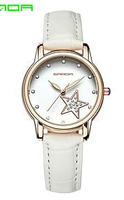 SANDA Mulheres Relógio de Moda Japanês Quartzo Quartzo Japonês Couro Banda Brilhante Pendente Casual Luxuoso Preta Branco Vermelho Marrom