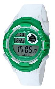 Vilam Mulheres Infantil Relógio Esportivo Relogio digital Digital Impermeável Resistente ao Choque Plastic Banda Casual Branco