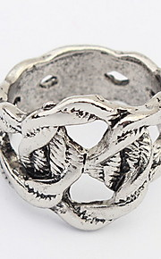 Båndringe Ring SmykkerEnkelt design Unikt design Logo Holdbar USA Britisk Mode Klassisk Vintage Elegant Boheme Stil Punk Stil Yndig