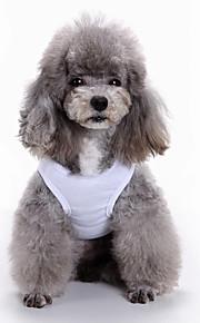 고양이 개 티셔츠 조끼 강아지 의류 여름 기하 귀여운 패션 캐쥬얼/데일리
