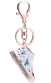 Chave de cristal rhinestone chaveiro de sapato sacos de charme porta chaves porta saco acessórios