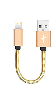 Lightning USB 2.0 Bärbar Höghastighets Kabel Till iPhone iPad MacBook MacBook Air MacBook Pro cm Metall Aluminium