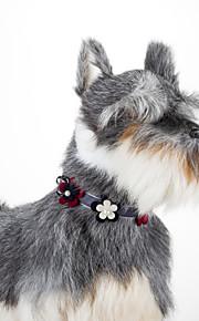 Cat Dog Floral Adjustable  Collar Bowtie
