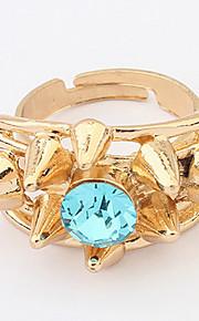 Euramerican Rhinestone Gold Turkish Women's Party Cuff Ring Statement Jewelry