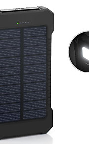 The New 6000mah Ddual-Usb Solar Powered Mobile Power