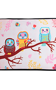 For MacBook Air / Pro / Retina 13 inch Universal Laptop Sleeves Oil Painting Owls Pattern Canvas Material