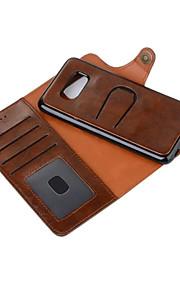 Per Custodie cover A portafoglio Porta-carte di credito Con supporto Con chiusura magnetica Integrale Custodia Tinta unita ResistenteVera