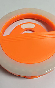 Luz do telefone móvel levou auto-timer lâmpada usb cobrança beleza flash luz noturna built-in bateria de lítio laranja
