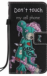 Para capa de capa carteira carteira com suporte flip padrão caixa de corpo cheio com stylus cartoon dura couro para maçã iphone 7 mais 7