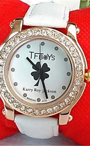 Mulheres Relógio de Moda Quartzo PU Banda Preta Branco Azul Rosa