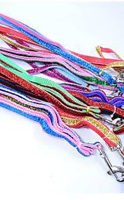 Szerokość 1.0 wysokiej jakości moda złota wstążka kolczyki psów materiał nylonowy pies sznurek trakcyjny kot pies uprząż akcesoria dla