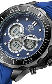 Masculino Relógio Esportivo Relógio de Moda Quartzo Silicone Banda Azul