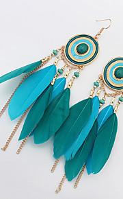 Øreringe sæt Smykker Mode Personaliseret Euro-Amerikansk Ædelsten Fjer Legering Smykker Smykker For Bryllup Speciel Lejlighed 1 Par