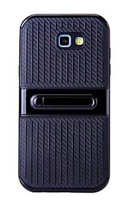 Для Samsung galaxy a3 (2017) a5 (2017) чехол с подставкой задняя крышка сплошной цвет жесткий tpu a7 (2017)