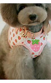 하니스 가죽끈 안전 훈련 꽃장식 PU 피혁 핑크