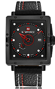 NAVIFORCE Masculino Relógio Esportivo Relógio de Moda Relógio de Pulso Relógio Casual Quartzo Calendário PU Banda Luxuoso Legal Casual