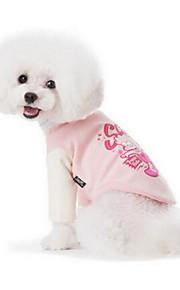 Hundar Väst Hundkläder Sommar Tecknat Gulligt Mode Ledigt/vardag Rosa