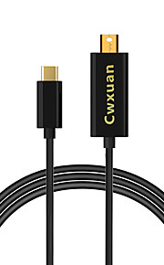 Cwxuan® USB 3.1 Type-C Male to mini DisplayPort Male 4K Adapter Cable for Chromebook & Macbook & Laptop