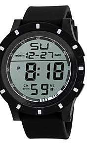 Masculino Relógio Esportivo Relogio digital Chinês Digital Silicone Banda Preta