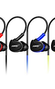 Fonge s500 3.5mm słuchawki przewodowe noce kasujące w zestawie słuchawkowym słuchawki stereofoniczne z mikrofonem wodoodporne, sportowe