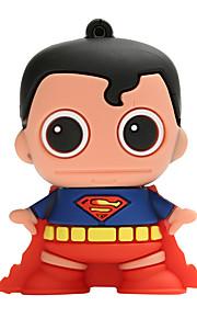 Nuevo creativo del superhombre usb2.0 16gb unidad flash u disco memory stick