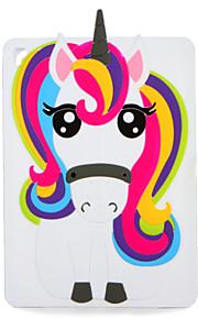 För Apple iPad (2017) Pro 9.7 '' Hölje Mönster Bak Hölje Hölje 3d Cartoon Unicorn Mjuk Silikon Air 2 Air Ipad 4/3/2