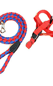 Harness Leash Portable Adjustable Safety Color Block Nylon Random Color