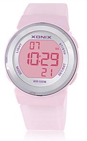 Mulheres Crianças Relógio Esportivo Relógio Inteligente Digital Impermeável Noctilucente Borracha Banda Branco Azul Marrom Roxa