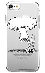 Voor iphone 7 plus 7 case cover milieuvriendelijke cartoon transparante patroon achterhoes case cartoon woord / zin zachte tpu voor iphone