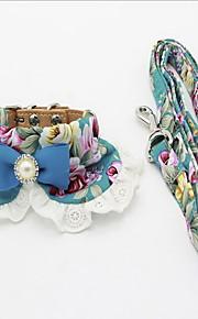 Halsband Koppel Vikbar Justerbara Blomma Spets Tyg