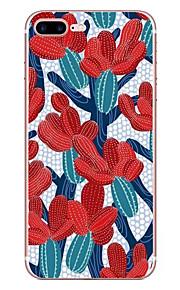 애플 아이폰 7 7 플러스 6s 6 플러스 케이스 커버 선인장 패턴 hd 페인트 tpu 소재 소프트 케이스 전화 케이스