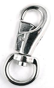 Hebilla de la llave del equipaje del animal doméstico plateada