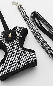 Harness Leash Adjustable Plaid/Check British Fabric